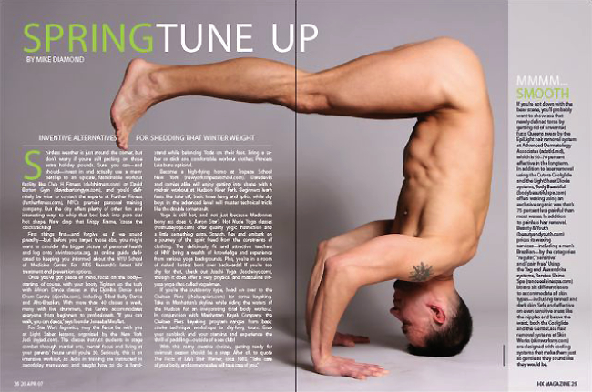 I Pinned This Spread Because The Naked Man Doing Yoga On Front Was A Big Factor He Grabbed My Attention From Start And Made Me Wonder What